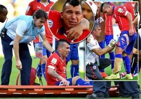 Chùm ảnh: Nỗ lực phi thường của Gary Medel không thể giúp Chile vượt qua Brazil