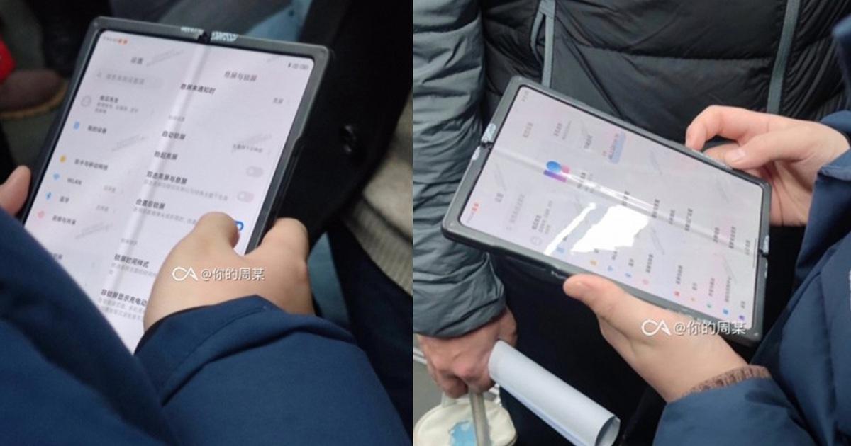 Hình ảnh thực tế chiếc smartphone màn hình gập đầu tiên của Xiaomi