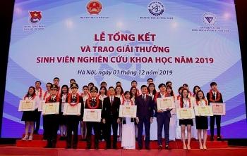 279 cong trinh dat giai thuong sinh vien nghien cuu khoa hoc nam 2019