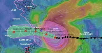 Bão số 9 vẫn giữ cường độ mạnh, hướng vào Đà Nẵng đến Phú Yên