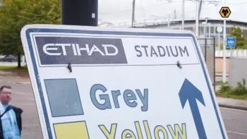 Man City tới Etihad chuẩn bị thi đấu với Wolves